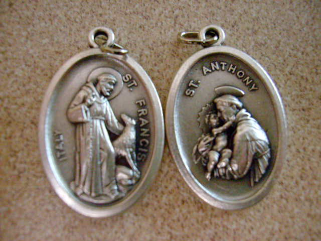 Devotional jewelry patron saint medallion necklaces unique st francis of assisi aloadofball Choice Image